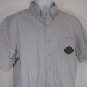 Harley Davidson Men's Button Up Shirt Short Sleeve